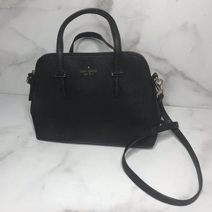 KATE SPADE BAG BLACK CEDAR STREET MAISE SATCHEL